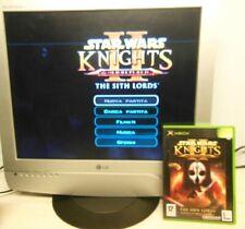 Star Wars II Knight The Sith Lords Microsoft Xbox Originale ITA