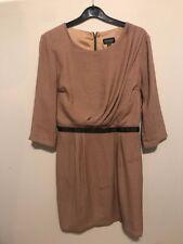 Topshop Size 10 Camel Colour Dress