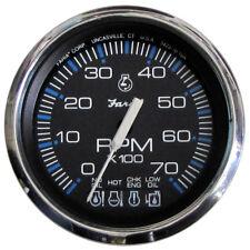 "Faria Chesapeake Black SS 4"" Tachometer w/Systemcheck Indicator - 7,000 RPM (Gas"