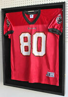 X Large Football Jersey  Display Case Wall Frame Shadow box -UV Protection BLACK