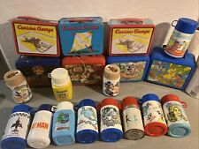Large Lot Of Vtg Lunchboxes Batman Mickey Aladdin Disney Bionic Woman Garfield