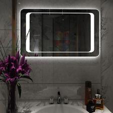 800x600mm LED Backlit Bathroom Mirror Wall Hung IP44 Demister Sensor Furniture