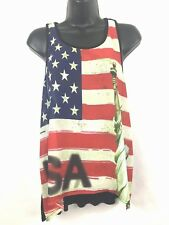 New listing Fifth & Love women's Usa Flag Statue of Liberty Americana tank top Large