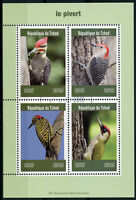 Chad 2019 CTO Woodpeckers Green Woodpecker 4v M/S Pivert Birds Stamps