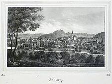 COBURG - Gesamtansicht - Saxonia - Lithografie 1836
