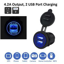 5V/4.2A Dual USB Charger Socket Adapter Power Outlet Splitter for Car Motorcycle