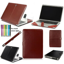 "Laptop PU Leather Case Folio Book Cover For MacBook Air Pro Retina 11""12"" 13""15"""