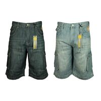Mens KAM Big King Size Combat Cargo Denim Shorts Fashion Summer Stylish 40-60