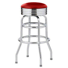 Classic 50's Diner Bar Stools - $85/ea - Red - Retro Style - New
