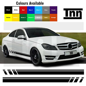 Side Stripe Decals Stickers For AMG Edition C63 507 Mercedes Benz C Class W204