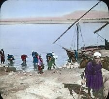 Keystone View Co. Glass Slide Color Tinted - Water Carriers on the Nile #6234