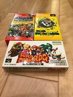 Lot MARIO KART RPG World SFC Super Famicom SNES NTSC-J CIB JAPAN Import Test