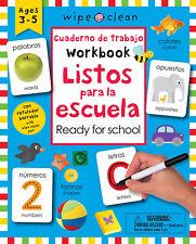 Wipe Clean Ready for School Cuaderno de trabajo Workbook Listos para la escuela