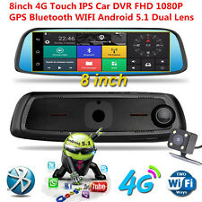 "8"" 1080P GPS Bluetooth WIFI Rear View Mirror Dash Car DVR Camera Video Recorder"