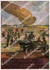 Reklame Militär Luftwaffe Gummifabrik Harburg Hamburg Flugzeug Zeppelin Auto ´17