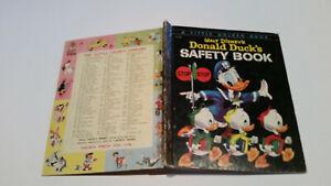 Little Golden Book 1stSYD Walt Disney DONALD DUCK'S SAFETY BOOK old spine 4sq vg
