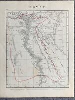 1841 EGYPT HAND COLOURED ANTIQUE MAP BY AARON ARROWSMITH 179 YEARS OLD