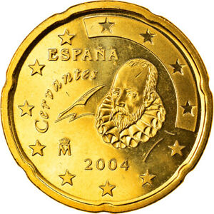 [#819695] Espagne, 20 Euro Cent, 2004, Madrid, FDC, Laiton, KM:1044