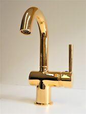 Waschtischarmatur Gold (24 Karat), Einhebelmischer, Wasserhahn, Cornwall