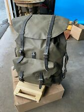 Vtg '80s SWISS ARMY Green Rubberized Waterproof Backpack Military Rucksack Pack