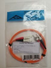 Fiber Optic patch cord, Quanity 4 Part # Gbstc-D2-01 New Sc to St Duplex Mm
