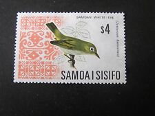 SAMOA, SCOTT # 274B, $4.00 VALUE ORANGE & BLACK 1967 LOCAL BIRDS ISSUE USED