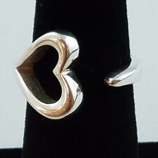 Tiffany & Co. Elsa Peretti Open Heart Sterling Silver Wrap Ring Size 6 FREE SHIP