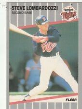 FREE SHIPPING-MINT-1989 Fleer Steve Lombardozzi #120 TWINS PLUS BONUS CARDS