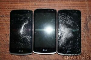 Lot of 3 Used & Untested LG Optimus Zone 3 Smart Phones For Parts/Repairs Only