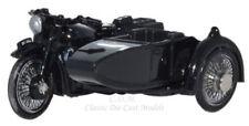 Oxford Black BSA Motorcycle w/Sidecar Die-Cast Metal 1/76 OO Scale #76BSA006