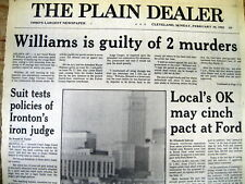 1982 newspaper Serial Killer WAYNE WILLIAMS found GUILTY of Atlanta GA murders