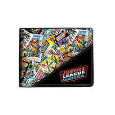 Justice League All Over Print Bi-Fold Wallet NEW Accessories Money Holder
