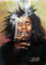 Bob Marley Portrait Art Canvas / Prints From Artist Haiyan Original Painting
