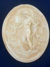 Bassorilievo in  gesso decoro interni 80 x 65  adone ovale rilievo gesso rustico