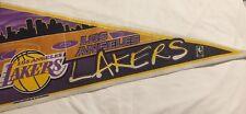 Vintage Los Angeles LA Lakers Pennant Lebron James Kobe 12x30 NBA Basketball