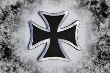 Eiserne Kreuz  Iron Cross Patch Badge Biker Kutte Aufbügler Harley Chopper