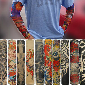 6 Pcs Temporary Fake Slip On Tattoo Arm Sleeves Kit Halloween Fancy Gift