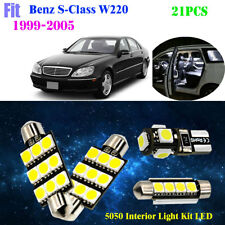 21Pc 5050 LED HID White 6000K Interior Light Kit Fit 1999-2005 Benz S-Class W220