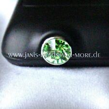 Grün Diamant Kristall Handyschmuck Staubschutz Smartphone Iphone 3,5 mm
