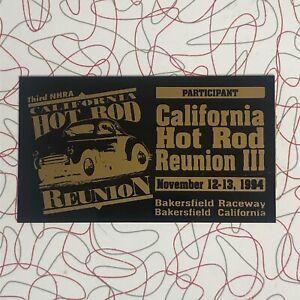 Vtg Dash Plaque NHRA 1994 Hot Rod Reunion Bakersfield CA NOS Participant 3rd