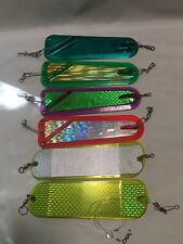 """4 Bechhold Fish Catcher 8"""" Flashers 2 Other Flashers Made In USA & Canada Fishin"""