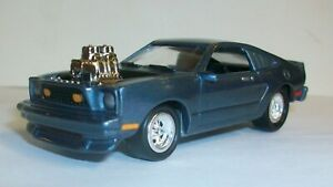 Johnny Lightning Ford Mustang II Cobra ? 1975 76 77 ? model year  blue