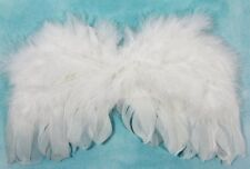 White feathered wings for little girls dress up or party accessories