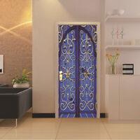 3D Retro Door Wall Sticker Vinyl Removable Door Mural Wallpaper Decor 77x200cm