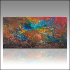 Vnartist / ORIGINAL 120cm x 60cm Abstrakt Gemälde Modern XXL Bilder 189