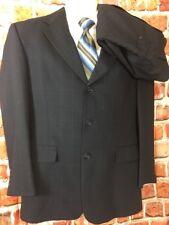 NWT HART SCHAFFNER MARX Mens Navy Check Suit Wool Sz 38S 32x28 (T2)