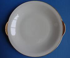 Servierplatte Eschenbach Goldrand Elfenbein Platte rund 26 cm Porzellan Bavaria