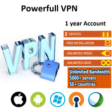 VPN Service 1 Years Subscription Win, macOS, Android, iOS and more 5 devices