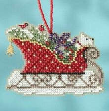 Evergreen Sleigh - Mill Hill Counted Bead Kit - Sleigh Ride Charmed Ornaments