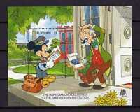 16072) st Vincent 1989 MNH S/S Mickey Mouse Postman